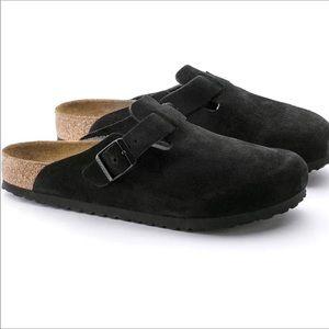 🆕 BIRKENSTOCK black suede sandal slides clog- 13